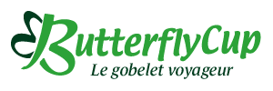 Logo ButterflyCup le gobelet écologique, recyclable et personnalisable.